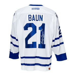 huge discount bfaea aca21 Details about Bobby Baun Autographed Toronto Maple Leafs Jersey