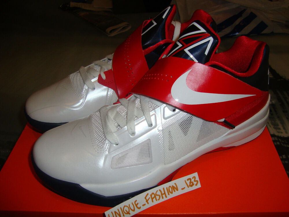 2012 NIKE KEVIN DURANT KD IV 4 OLYMPIC US 10.5 UK 9.5 44.5 TEAM USA Gold Medal-