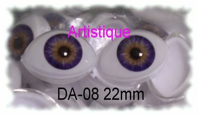 MUST READ RED DESCRIPTION ACRYLIC LIFE LIKE DOLL EYES ~ 8mm HALF ROUND