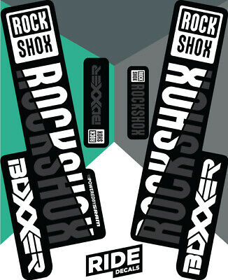 Blanc Rockshox Pike Ultimate 2019-2020 Autocollant Decal Sets-Enduro DH