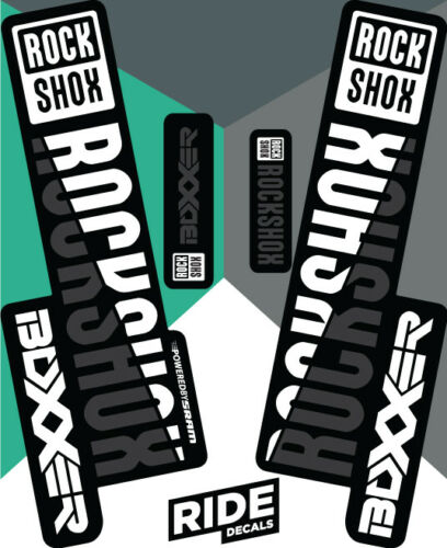 Enduro DH RockShox Boxxer 2018 Style Sticker Decal Sets WHITE