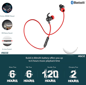 Best Bluetooth Wireless Headphones Workout Sports Gym Headset For Cell Phones Ebay