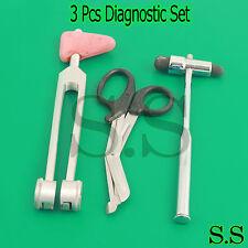 3 Pcs Set Diagnostic Emt Nursing Surigcal Ems Supplies Ss 638