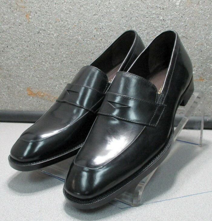 153921 FT50 Homme Taille 11.5 m Noir Cuir à Enfiler Chaussures Johnston Murphy