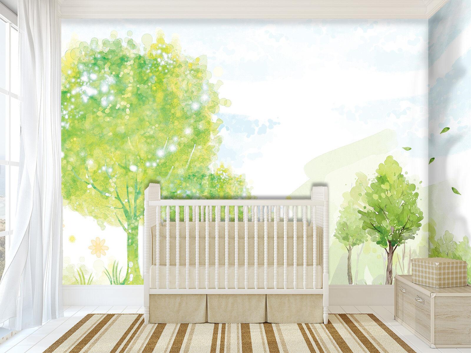 3D Pretty Trees 367 Wall Paper Wall Print Decal Wall Deco Indoor AJ Wall Paper