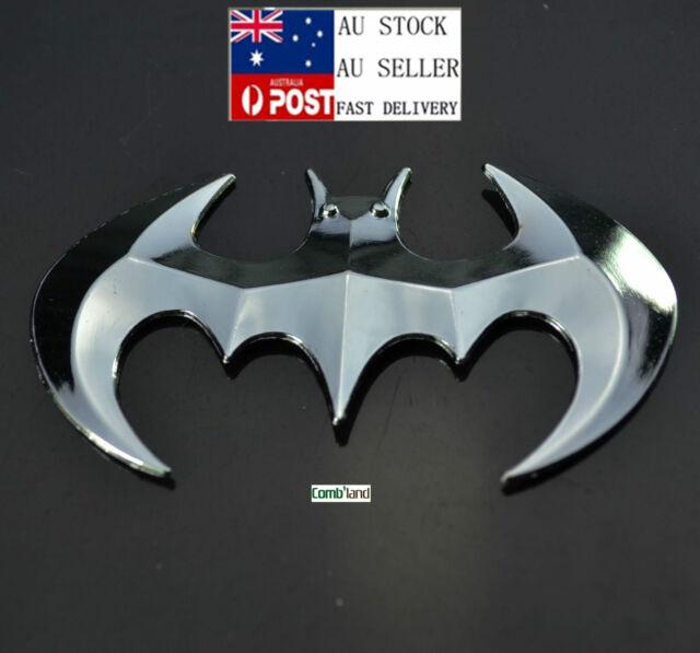 3d Sliver Chrome Metal Batman Badge Emblem Sticker Decal For Car