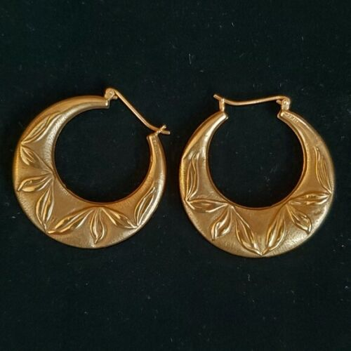 14k Yellow Gold Hoops - image 1