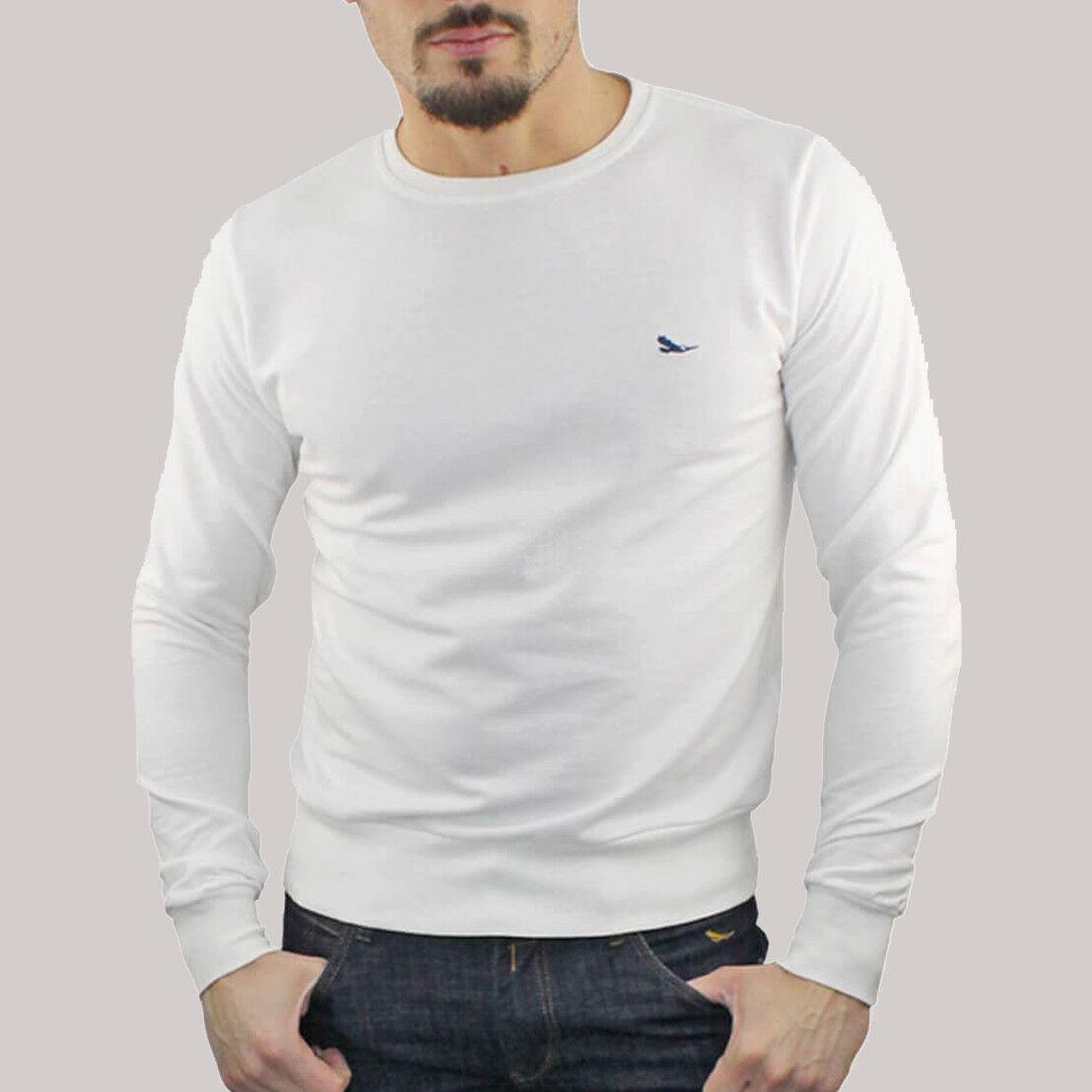 Felpa Uomo Girocollo Maglia Polo Casual Cotone T-shirt RDV