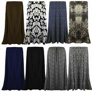 Skirt-Gypsy-Ladies-Long-Size-Maxi-Womens-Jersey-Dress-New-Elastic-Waist-UK-12-22