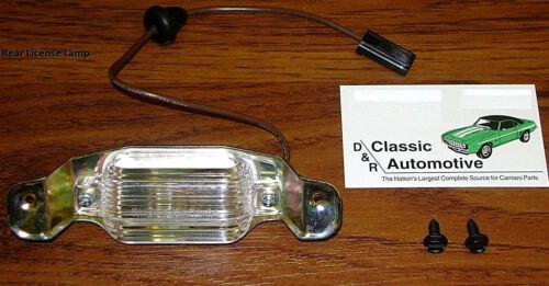 Rear License Light correct color wire+GUIDE lens Camaro Chevele Nova Impala lamp
