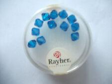 Rayher Swarovski Kristall-Schliffperlen 12 Stück 6 mm nachtblau Bastelperlen
