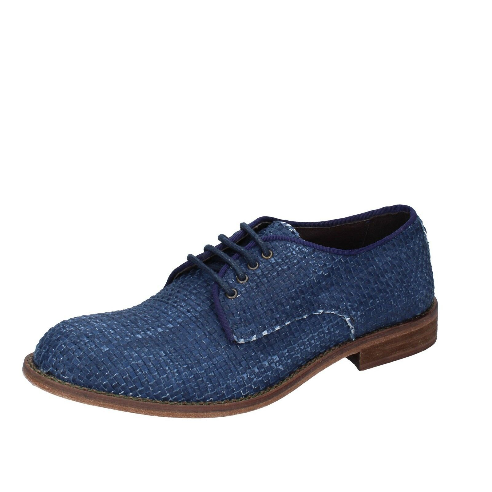 Mens shoes EVC 6 () elegant bluee leather BT959-40