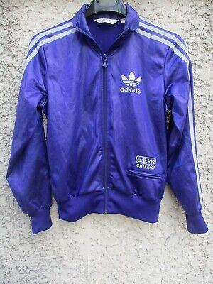 Veste ADIDAS CHILE 62 violet argent rétro vintage tracktop jacket 36 trefoil | eBay