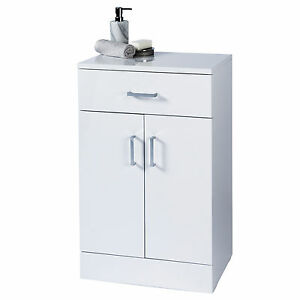 bathroom cabinets free standing white gloss salerno gloss white wood free standing bathroom 24840