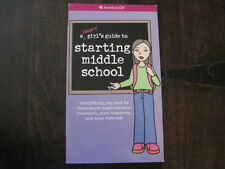 A Smart Girl's Guide to STARTING MIDDLE SCHOOL 6th Grade AMERICAN GIRL DOLL Book