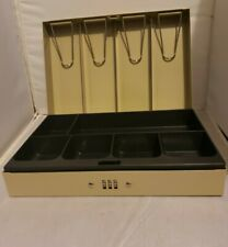 Mmf Industries Metal Cash Box With Money Tray And Combination Lock