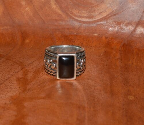Silpada Sterling /& Black Agate Swirl Ring Sterling Onyx Size 6.25 Gift Retired Silpada Sterling Stone Ring