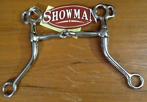 5-034-Western-Long-Shank-Tom-Thumb-Broken-Snaffle-Training-Bit-Horse-Tack