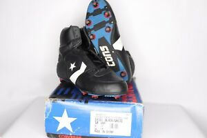 Vintage-90s-New-Converse-Mens-10-Cons-Invader-Hi-Leather-Football-Cleats-Black