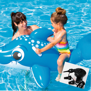 Details about Bestway Adults Kids Inflatable Swimming Pool Float Dolphin  157*89 , for Ages 3+