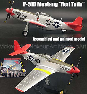 Details About Wwii Us P 51d Mustang Red Tails Special Edition 1 72 No Diecast Plane Easy Model