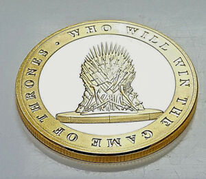 Details about GAME OF THRONES Gold Coin Iron Throne Westeros Map Sci Fi  Fantasy TV Series USA