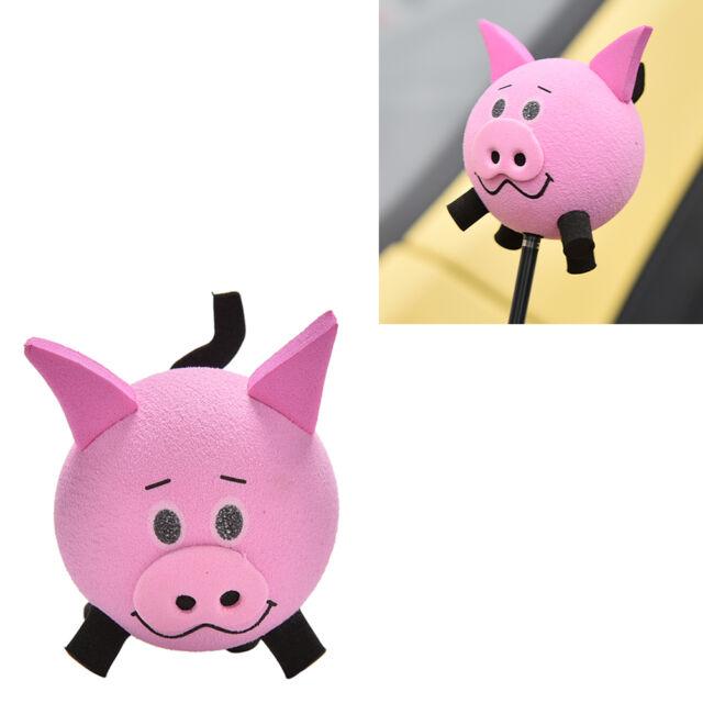 1X Pig Eva Decorative Car Antenna  Topper Balls Pink  WA