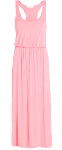NEW WOMEN/'S LADIES MAXI TOGA LOOK LONG DRESS PUFF BALL RACER BACK All SIZE 8-24