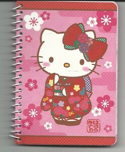 Sanrio Hello Kitty Spiral Notebook Pink and Black