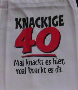 knackig 40 Schürze für Erwachsene Geburtstag Scherzartikel Grill Koch Gag