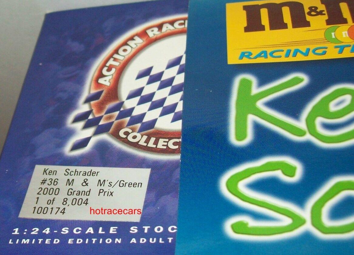 Ken Schrader 2000 2000 2000 Ms Green M&Ms Pontiac 1 24 NASCAR Diecast CWC Mint 44494f