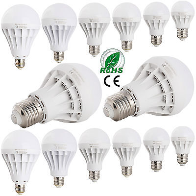 220V - 240V LED E27 Energy Saving Bulb Globe Light 3W 5W 7W 9W 12W 15W 20W Lamp