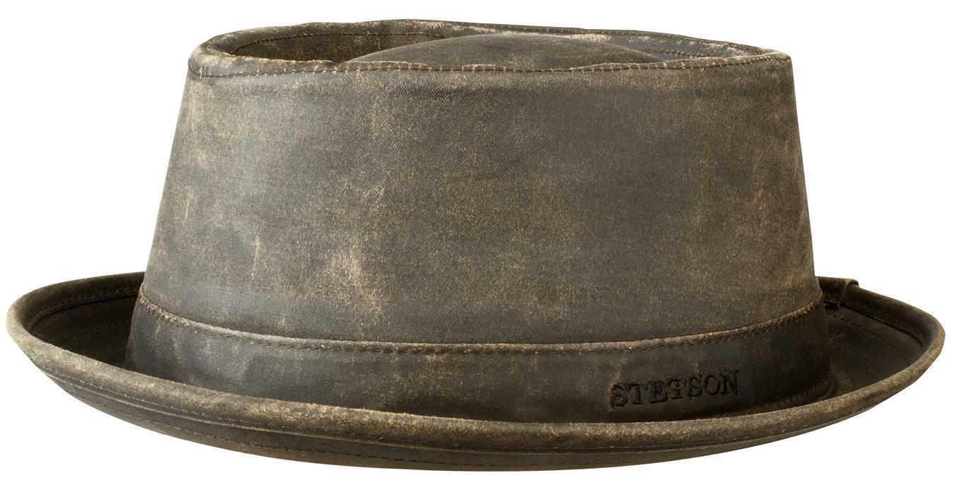 Stetson PORK PIE Odenton musikerhut künstlerhut Vintage Brown Porkpie UV Protection
