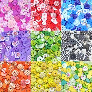 150 mélange bois acrylique & résine boutons pour cardmaking embellissements 8 couleurs-afficher le titre d`origine cZ497cYj-07194623-746568539