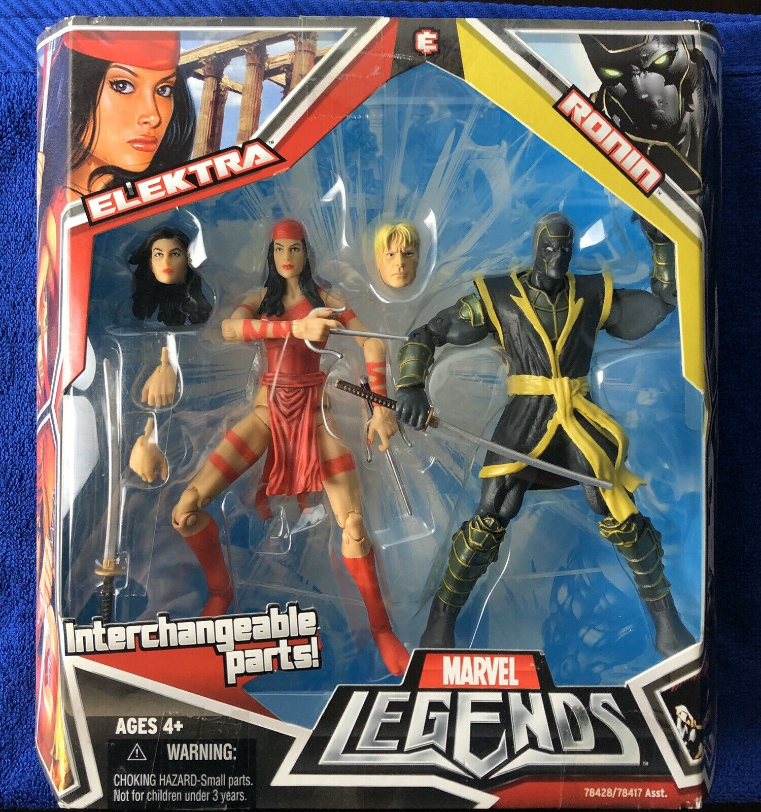 Marvel Legends Interchangeable Parts  ELEKTRA & RONIN