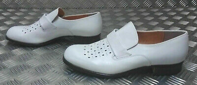 Flight Tracker Genuine German Navy / Naval White Leather Sailor's Dress Shoe Uk Size 9½ - New 100% Original