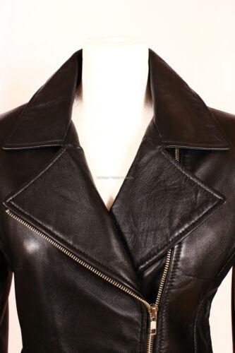 doux col Mila en Black en cuir 8320 montant d'agneau Ladies cuir avec Veste très vwqx17RHR