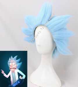 Rick-and-Morty-Blue-Style-Hair-Halloween-Fancy-Party-Cosplay-Wig-Short-Men-Props