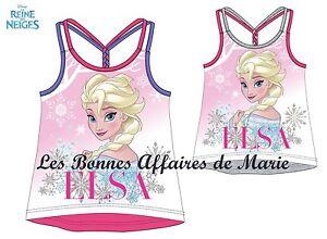 DISNEY-LA-REINE-DES-NEIGES-Debardeur-Elsa-Neuf-avec-etiquette