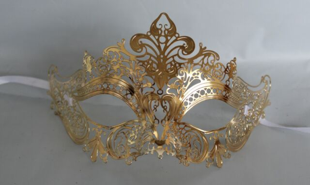 Gold Filigree Metal Venetian Masquerade Party Mask *NEW* Express Post Available