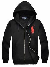 black and red ralph lauren hoodie