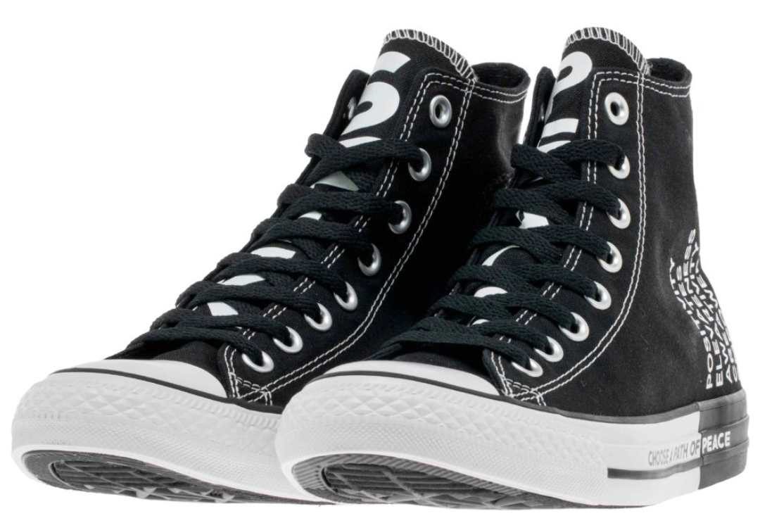 CONVERSE Chuck Taylor Allstar '70 HI Seek Peace Black White shoes 4-13