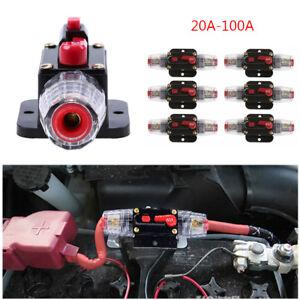 dc 12v 20 100a amp car audio stereo inline quick circuit breaker rh ebay com au