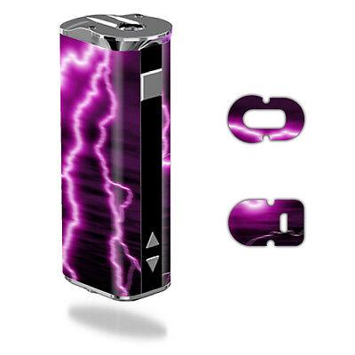 Skin Decal Wrap for Eleaf iStick 30W mod sticker vape Purple Lightning