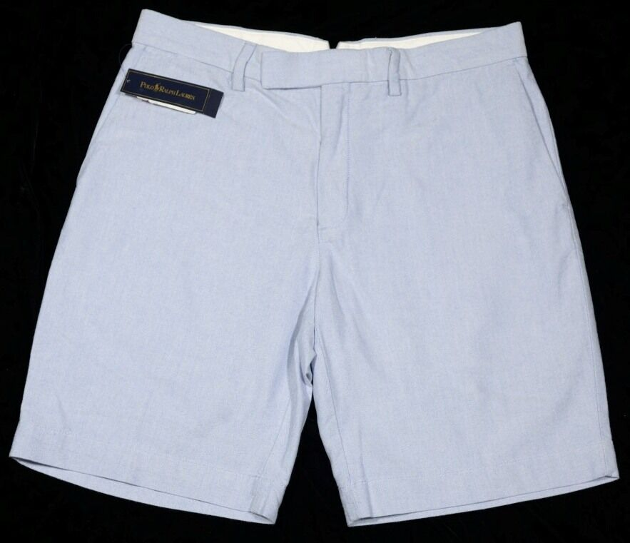 Men's POLO RALPH LAUREN bluee Oxford Shorts 42 NWT NEW Classic