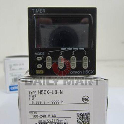 New OMRON H5CX-L8-N H5CXL8N 100-240VAC Digital Timer New in Box Free Ship