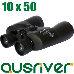 10x50 DPSI Comet Wide Field 6.5 Outdoor Binoculars Hunt Telescope Bag Black