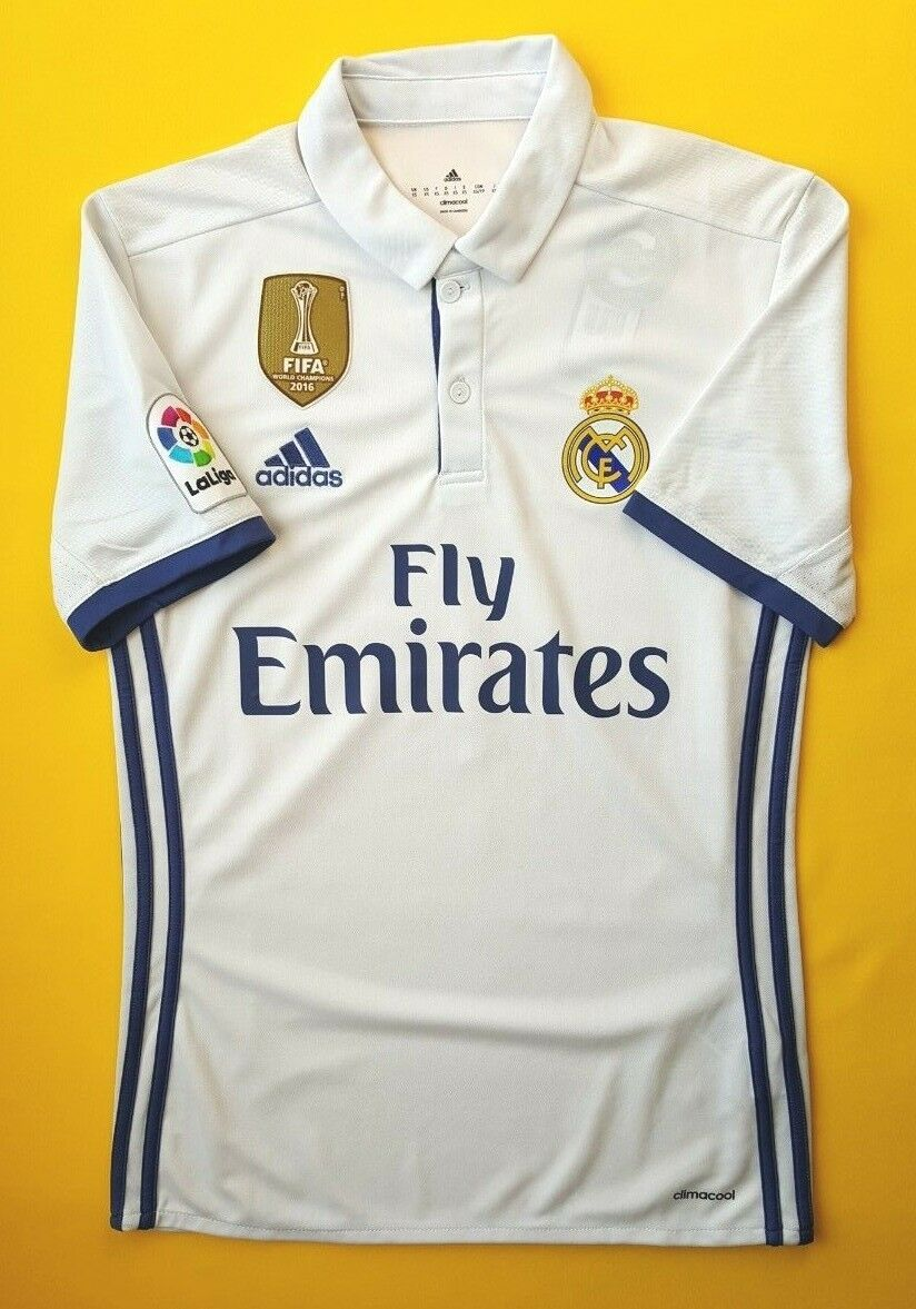 5+ 5 Real Madrid jersey XS 2016 2017 shirt S94992 Adidas soccer football ig93