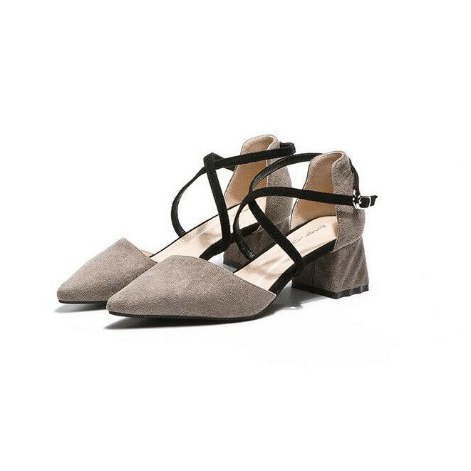Sandalei 5 cm eleganti grigio nero tacco quadrato Sandale simil simil Sandale pelle 1100 34f6e0
