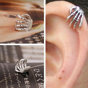 Chic-Skeleton-Hand-Ear-Cuff-Silver-Plated-Ear-Bone-Personality-Clip-Earring-H-PD